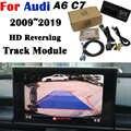 Macchina fotografica di retrovisione Per Audi A6 C7 2009 ~ 2020 Adattatore 8-inch Originale Aggiornamento dello schermo di Visualizzazione di Sostegno Tronco Maniglia macchina fotografica Decoder