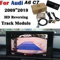 Rear camera For Audi A6 C7 2009~2020Adapter 8 inch Original Upgrading screen Display Backup Trunk Handle Camera Decoder
