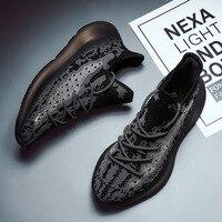 New Men's Casual Shoes Kanye West Designer Men Breathable Flyknit Mesh Antiskidding Gym Cushion Sneakers Boost 350V3