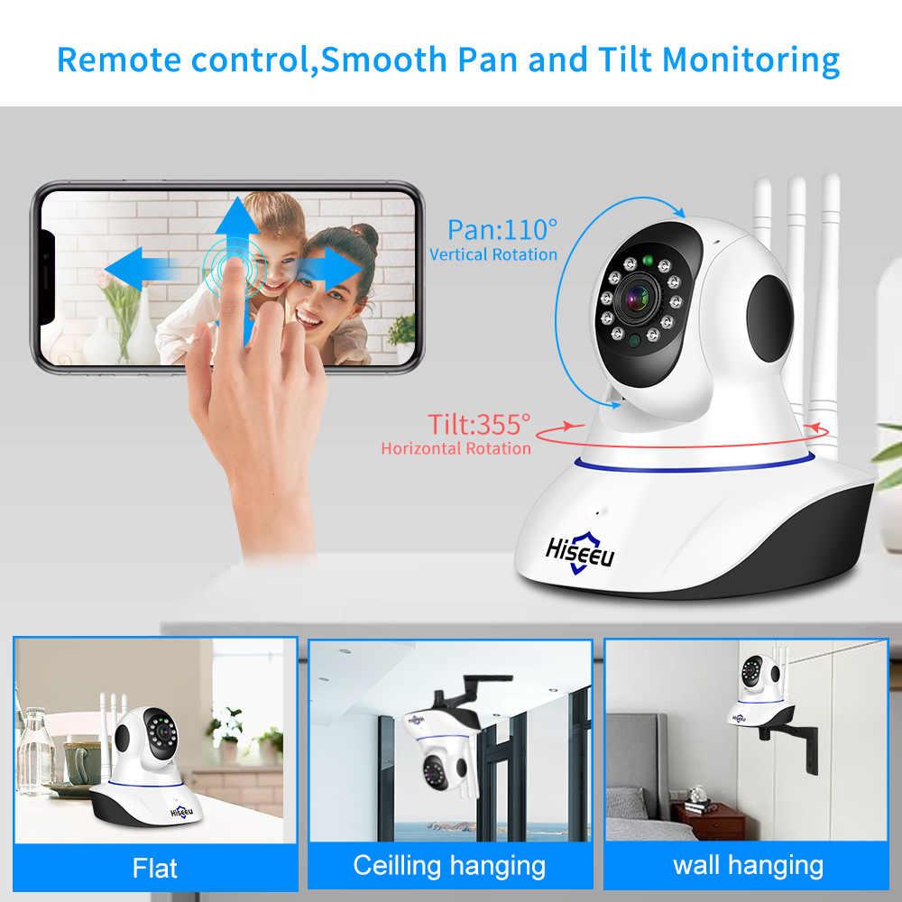 Hiseeu 1080P 1536Pกล้องIP WIFI Wireless Home Securityกล้องเฝ้าระวัง 2-Way Audioกล้องวงจรปิดกล้องสัตว์เลี้ยง 2mp Baby Monitor