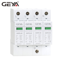 GEYA GSP8-4P Din Rail SPD AC275V AC385V 400V 440V 20KA-40KA SPD 4P House Surge Protection Device Low-voltage Arrester Device