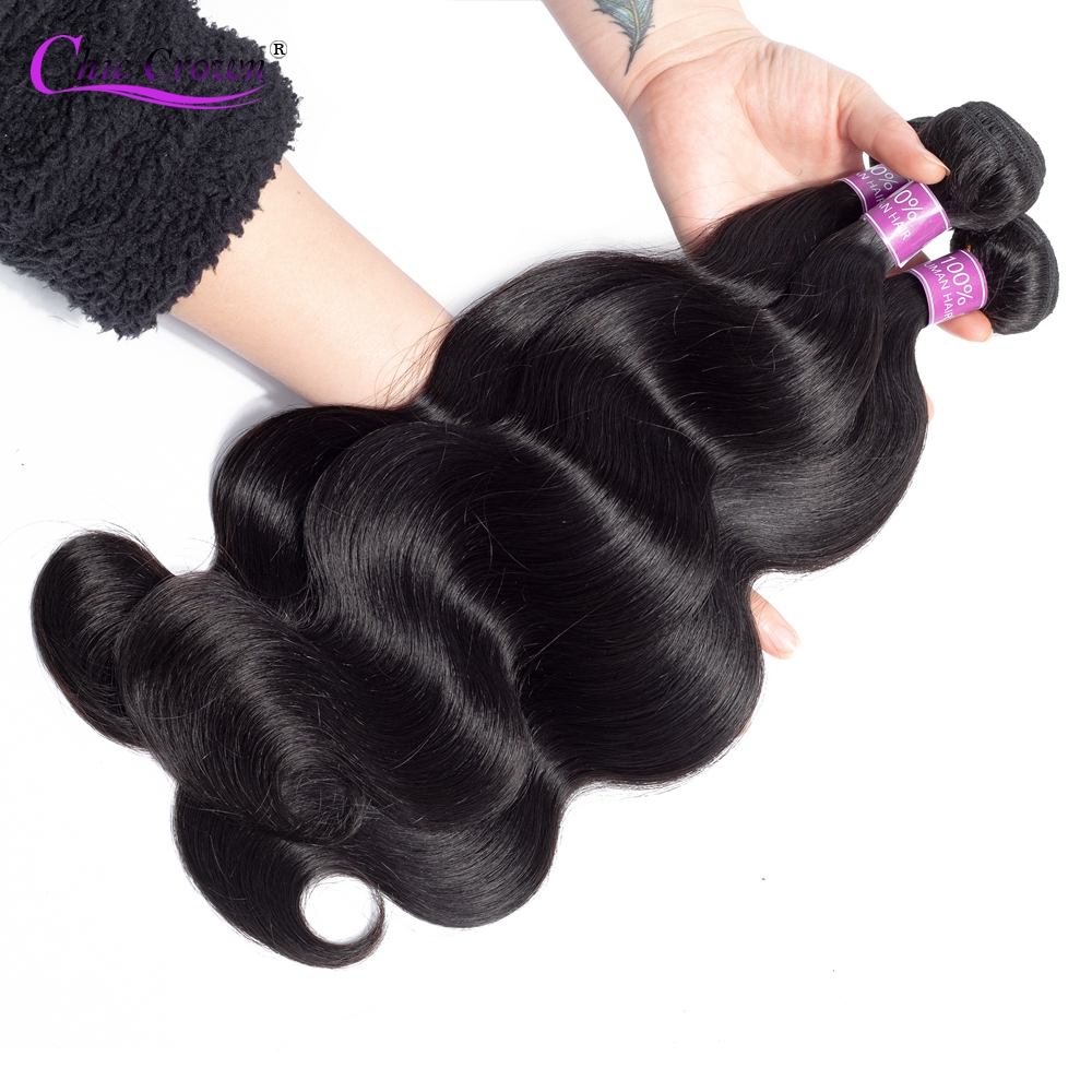 Brazilian Body Wave Hair Weave Bundles Natural Color 100% Human Hair weave 3 Piece 8-28inch Remy Hair Extensions