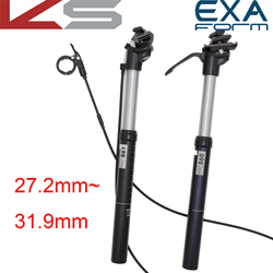 KindShock dropper seatpost 27.2 mm adjustable height suspension bike MTB EXA FORM 27.2 28.6 30.4 30.9 31.6 mm remote manual control hand wired cable