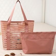2PCS/SET PVC Swimming Bag Gym Tote Transparent Handbags Clear Beach Pool Swim Storage Bags For Women Tavel Waterproof Bag XA232A