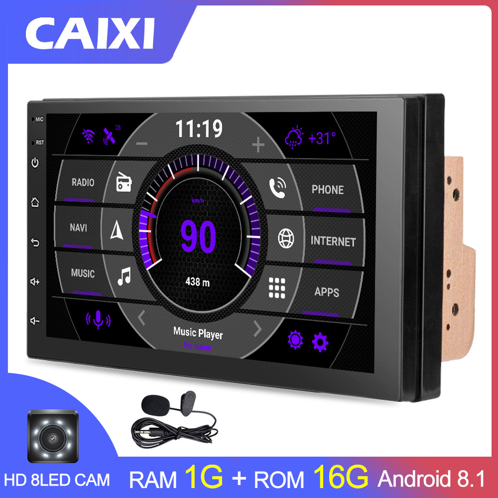 2 Din Android 8.1 Car Radio Multimedia  For Nissan Volkswagen TOYOTA Honda KIA Hyundai  mazda Universal auto Stereo GPS MAP-in Car Multimedia Player from Automobiles & Motorcycles