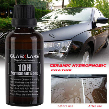 30ml 10 H Car Super Hydrophobic Glass Coating Agent Car Liquid Ceramic Coat Auto Paint Care Nano Paint Sealant Protection 30ml hardness 10h super hydrophobic car glass coating car liquid coat paint care durability anti corrosion coating set