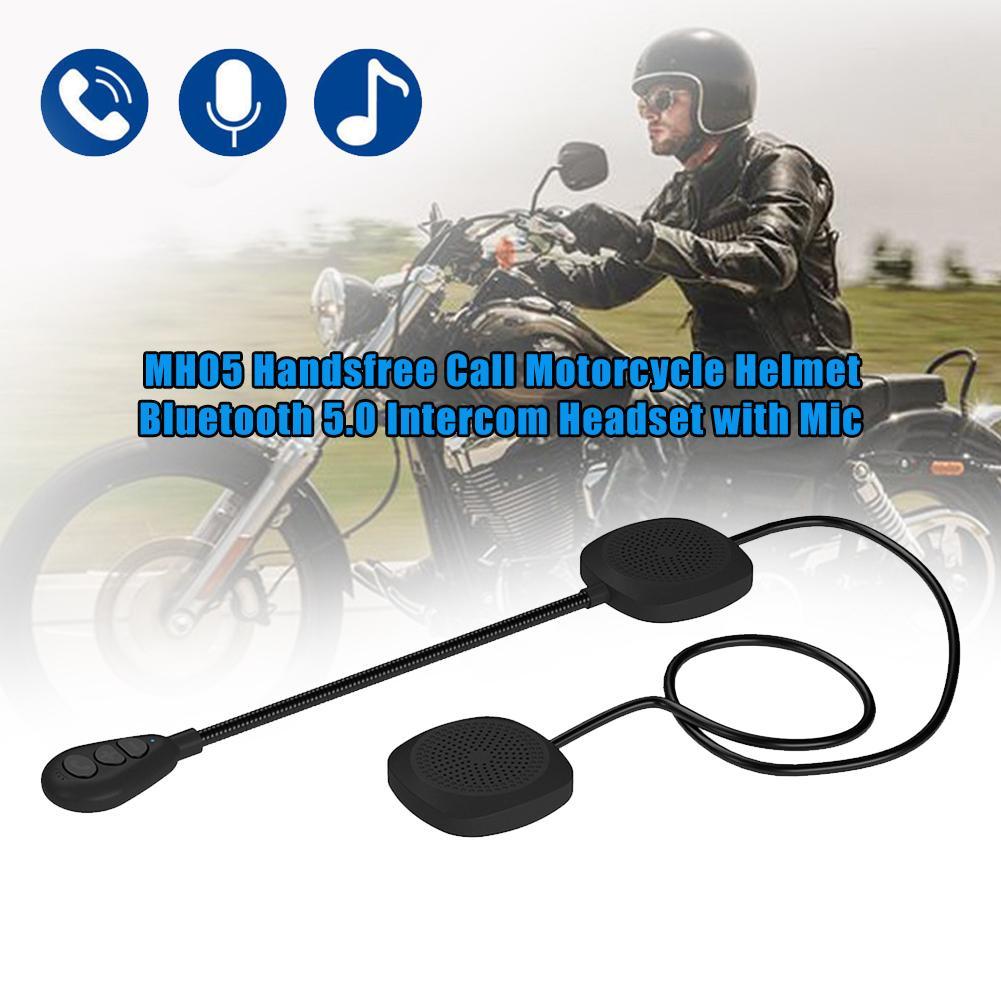 Heißer Verkauf Motorrad Langlebig MH05 Freisprechen Anruf Helm Bluetooth 5,0 Intercom Headset mit Mic Gute Qualität