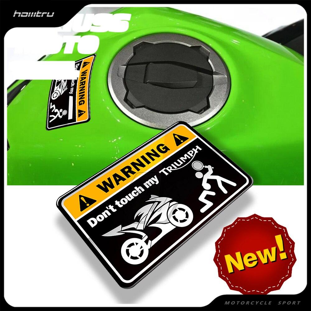 3D Warning Sticker Don't Touch My Motorcycle Decal Case for Kawasaki NINJA Yamaha Honda CBR Suzuki GSXR  Ducati MONSTER