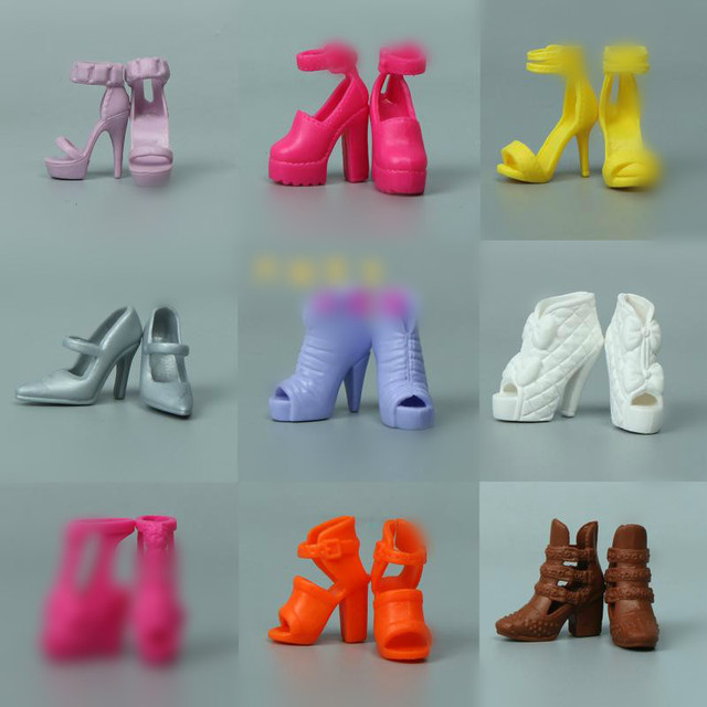 1/6 Doll Accessories Fashion Sneaker Flat Shoes Genuine Sandals Shoeshigh-heeled shoes for Barbie Doll Shoes 1