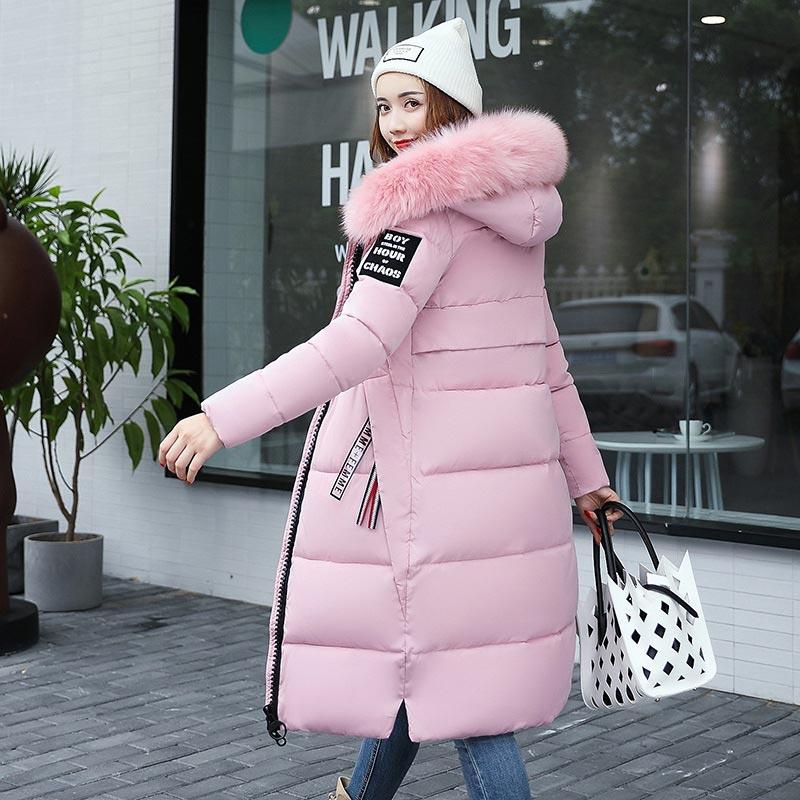 Plus size long slim solid   parka   women jacket coat winter jacket women fashion coat female 2019 new women coat jackets female