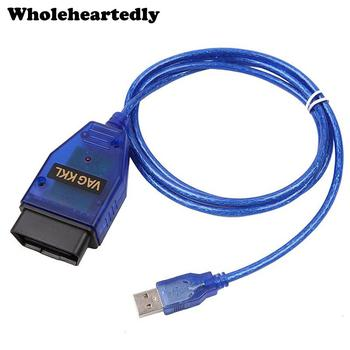 VAG-COM KKL 409.1 OBD2 USB Cable Scanner Scan Tool Audi VW SEAT Volkswagen Auto Full support of KW 1281 and KW 2000 image