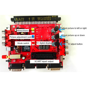 For SNK V2.0 Super Gun JAMMA CBOX Converter Board to Joypad & Saturn Gamepad for Arcade Game Board Mainboard with Shell