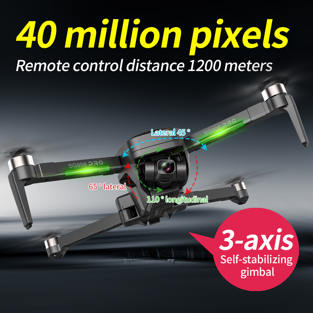 SG906 Pro 2 Drone 3-axis gimbal with GPS 4K 5G WIFI Dual camera professional ESC 50X Zoom Brushless Quadcopter BEAST RC Dron 3