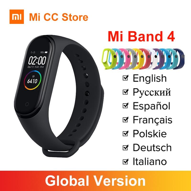 Оригинальный браслет Xiaomi Mi Band 4, фитнес трекер с пульсом, Bluetooth 5,0, спортивный водонепроницаемый AMOLED экран, Miband 4|Смарт-браслеты|   | АлиЭкспресс