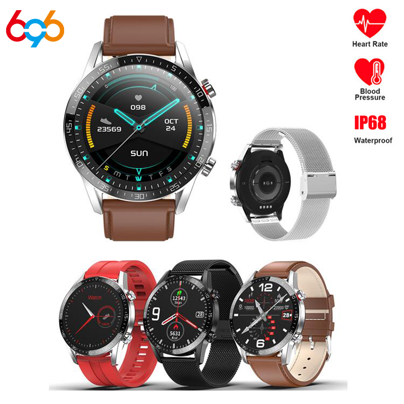 L13 Smart Watch ECG+PPG IP68 Waterproof Bluetooth Call Blood Pressure Heart Rate Sports Smartwatch For HuaWei IOS Phone PK L7