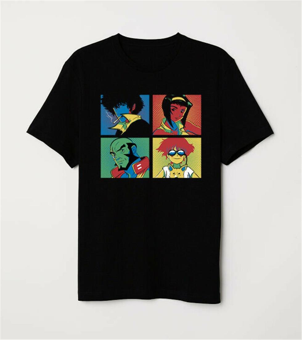 Cowboy Bebop Crew Pop Kunst Spike Spiegel Jet Schwarz Faye Edward Ein Schwarz T-Shirt Harajuku T-shirt