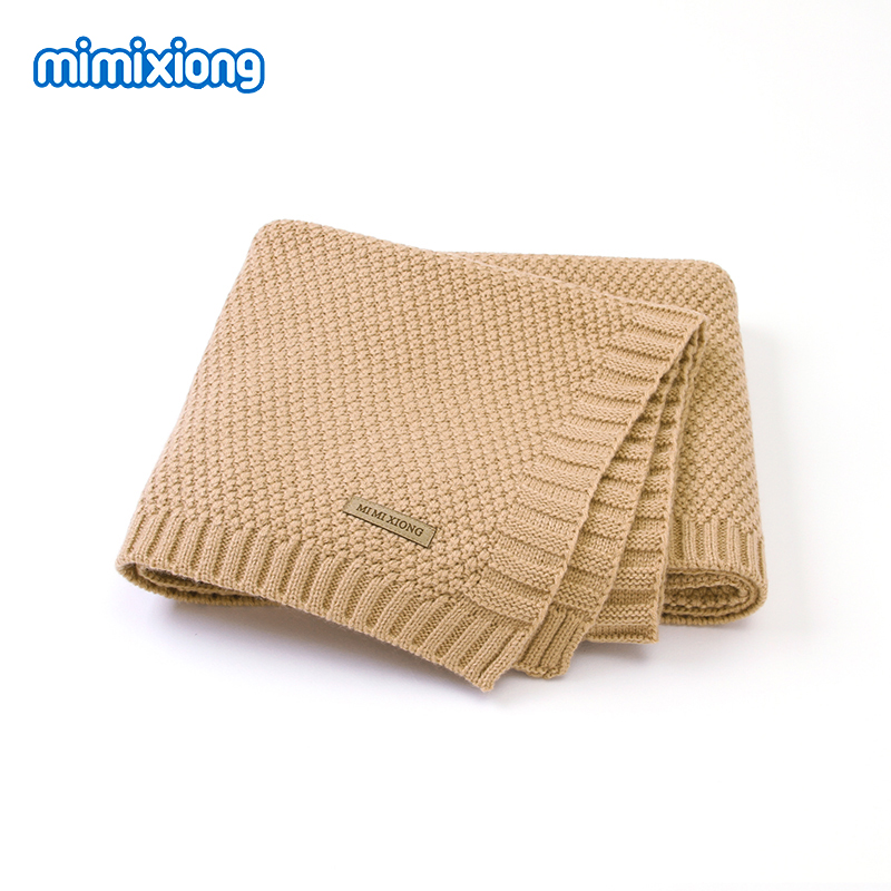 Baby Blanket Knitted Newborn Blankets Super Soft Infant Bebes Swaddle Wrap Stuff For Stroller 100*80cm Toddler Children's Quilts