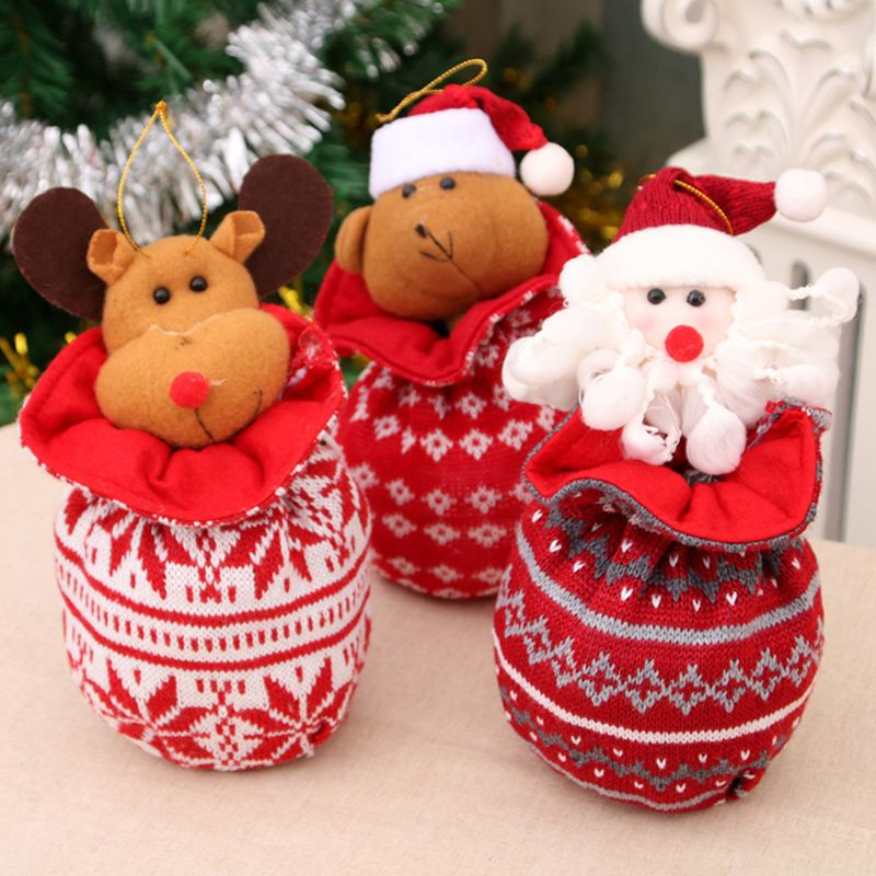 Christmas Candy Bag Pendant Kids Friends Xmas Gift Party Tree Decoration C90E