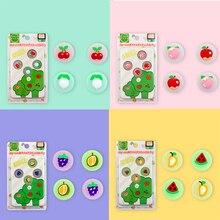 Capuchons de poignée de Joystick JoyCon en Silicone, jolis capuchons de poignée de pouce en forme de Fruit en 3D pour Nintendo Switch, accessoires