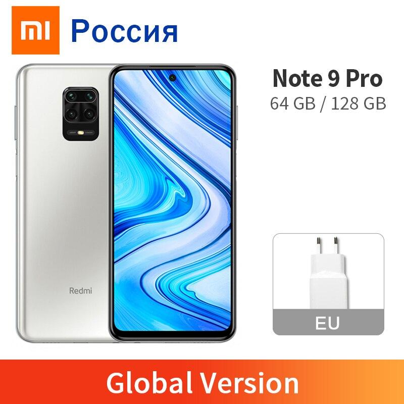 Глобальная версия Redmi Note 9 Pro 6 ГБ 128 ГБ/64 ГБ NFC мобильный телефон 64-мегапиксельная четырехъядерная камера Snapdragon 720G 33 Вт Быстрый Зарядное устрой...