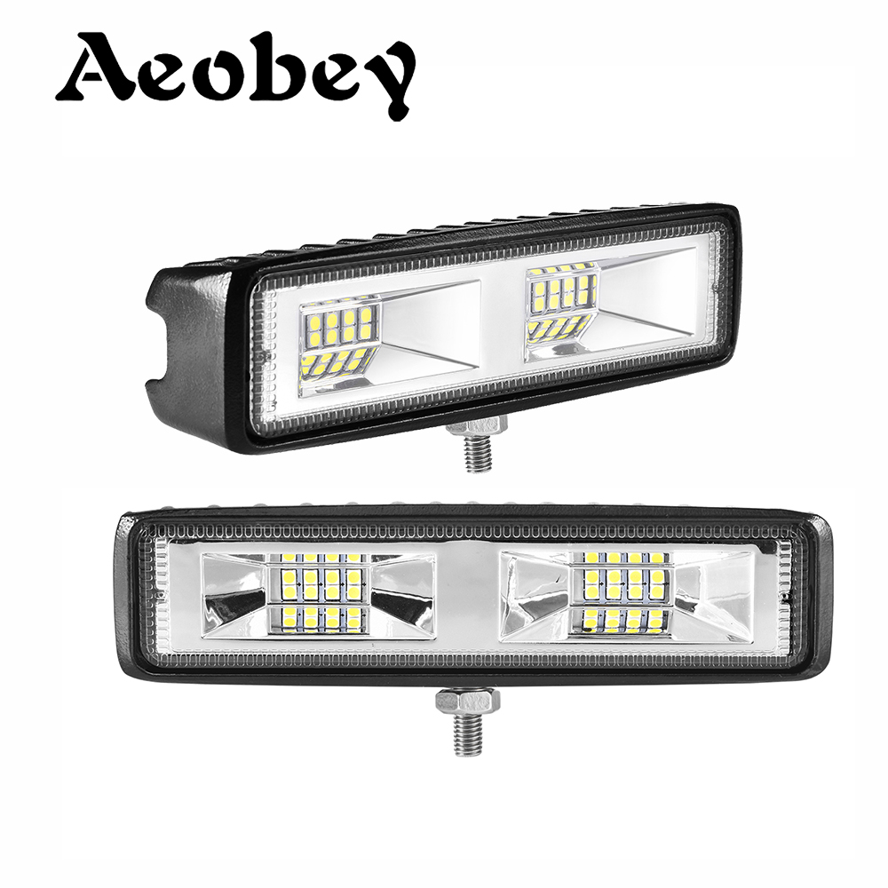 6 Inch 48W 3D Led Work Light 12V Led Beams Led Bar Off Road 4x4 Car Flood Spot Combo Light For Trucks SUV Accessories Fog Lamp