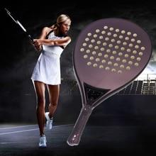 Black Professional Carbon Fiber Paddle Tennis Racket Tennis Soft EVA FaceTraining Sports Adult Professional Tennis Equipment