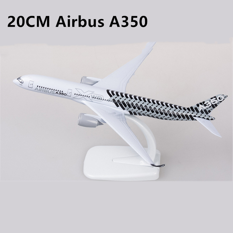 20CM 16CM Airbus A350 Prototype Airplane Plane Model Diecast Aircraft Toy Airliner Model Kids Christmas Gift Collectible Display