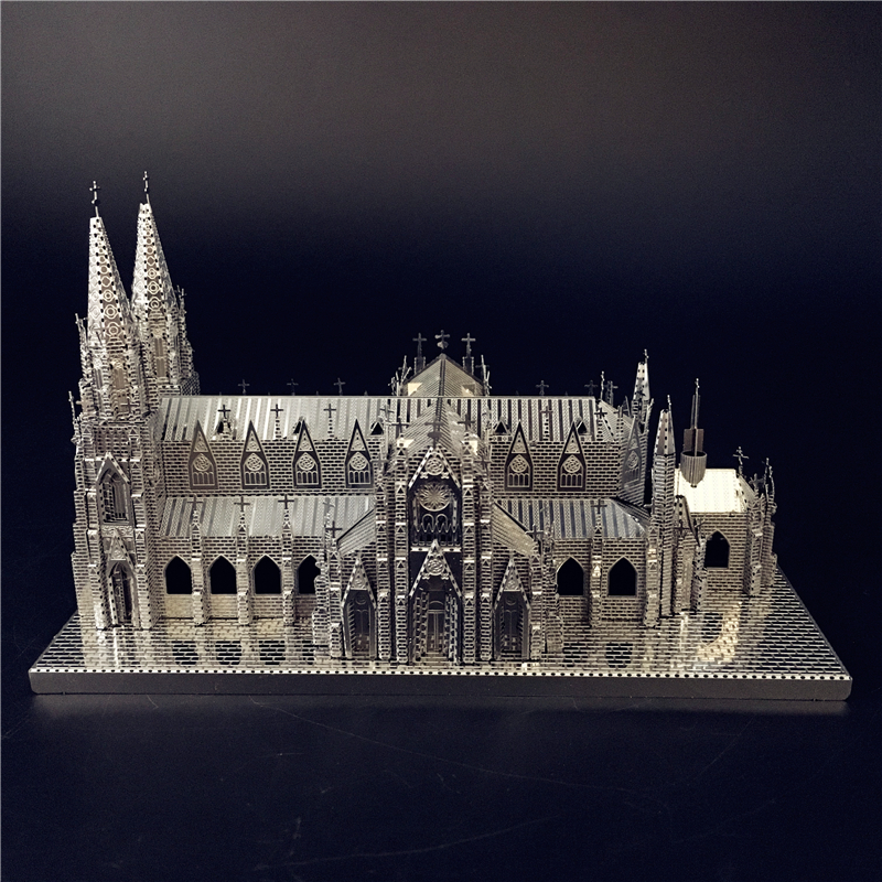 Nanyuan IRON STAR 3D Puzzle Metal Assembly Model St. Patrick's Cathedral Model Kits DIY 3D Laser Cut Jigsaw Toy Creative Toys