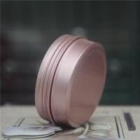 50pcs 60g Rose Gold Aluminum Jars Empty Cosmetic Makeup Cream Lip Balm Gloss Metal Aluminum Tin Containers