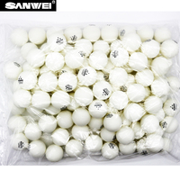 Sanwei 100 pieces New material ABS 40+ table tennis ball seamedwhite ping pong ball for table tennis traing ball