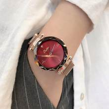 newest style wrist watches luxury women analog watch round dial relogio(China)