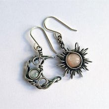 Fashion Bohemia Sun and Moon Earrings Crystal Drop Earrings Women Female Statement Dangle Earrings Party Jewelry Gifts for her