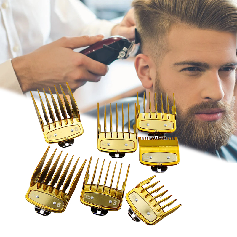Professional 8 Pcs Hair Clipper Limit Comb Guide Attachment Size Barber Combs Hairdresser Replacement Hair Clipper Limit Comb