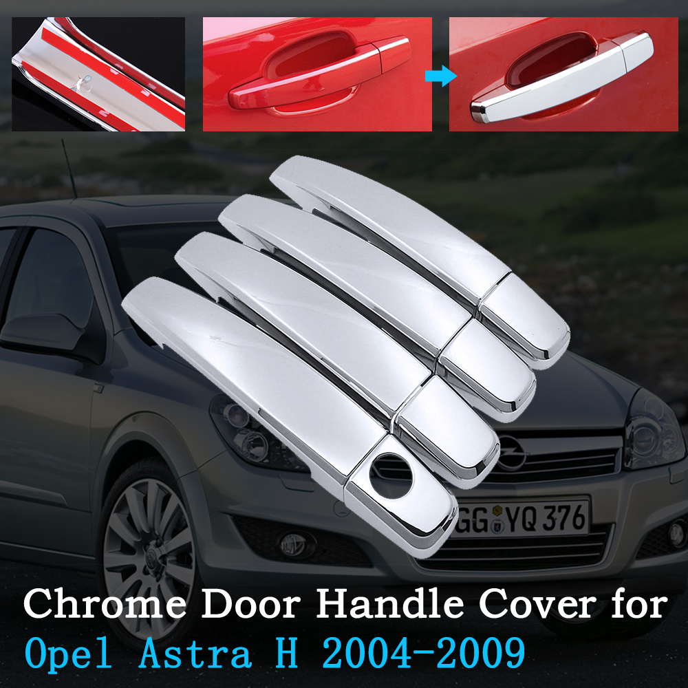 Chrome Car Door Handle Cover for Opel Astra H 2004 2009 Vauxhall Holden Family Trim Set Exterior Accessories 2005 2006 2007 2008