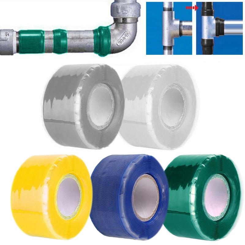 Ремонтная лента 1,5 м/3 м X 2,5 см, водонепроницаемая резиновая силиконовая склеивающая лента, эффективная водопроводная самофлюсная лента, ско...