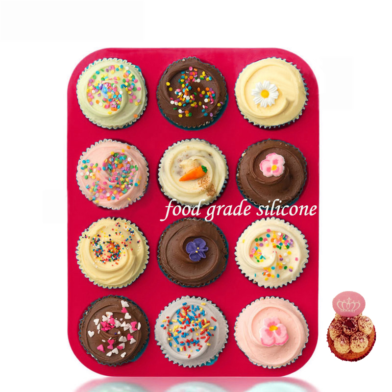 12 Cup High Quality Silicone Muffin Tins 3