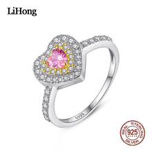 2019 Luxury Sliver Rings For Women Fashion Elegant Zirconium-Inlaid High Quality Heart Shape Engagement Jewelry
