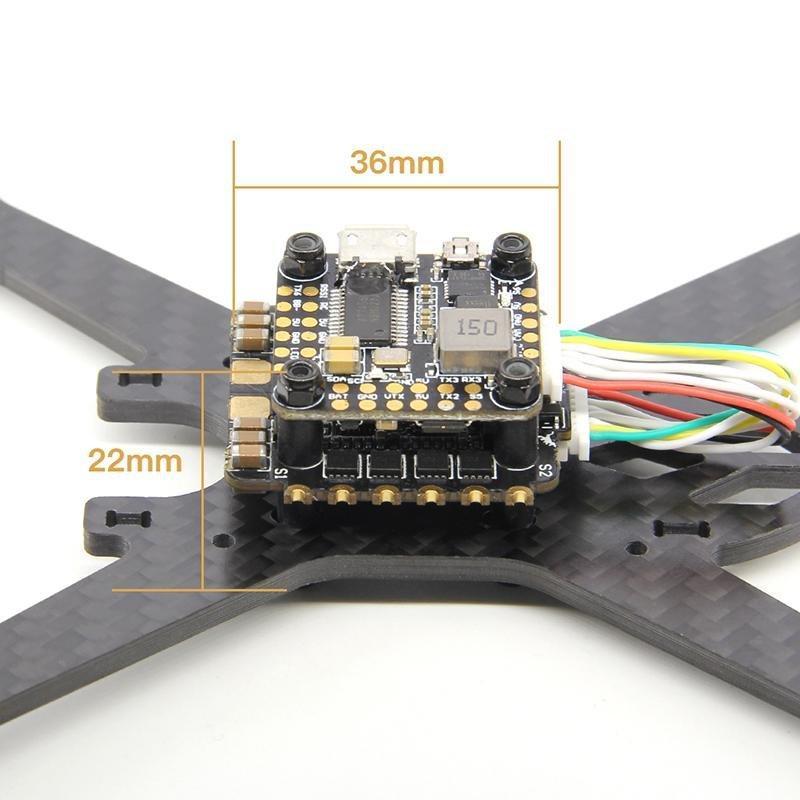 HGLRC-Mini controlador de vuelo F4 STACK 3-6S, 20X20mm FD F4, 35A, 4 en 1, BL32, ESC, para carreras de FPV, Freestyle, Micro Drones
