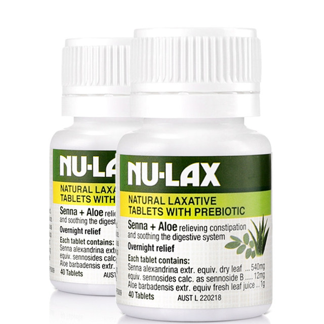 NuLax Natural Laxative 40Tablets with Prebiotic Senna Aloe Constipation Treatment Overnight Relief Stimulating Bowel Evacuation 3