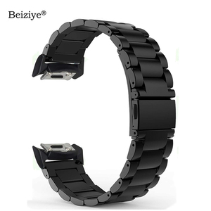 Beiziye Stainless Steel Smart Watch Band For Samsung Gear S2 SM-R720 SM-R730 With Adapter Connector Metal Sport Bracelet Strap
