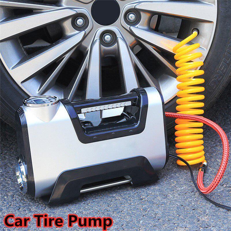 Автомобильный воздушный компрессор для шин насос автомобильный Автомобильный насос электрический автомобильный пневматический насос с р...