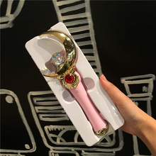 Sailor Moon Tsukino Usagiจับการ์ดSakura Magic Henshin Wand Rodไร้สายบลูทูธSelfie Stick Selfies Xmasของขวัญ