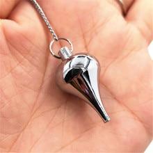 pendulum pendentif deli pendant Reiki pendulums stone for dowsing Charms pendulum stone Amulet ose gold 100% Copper Material