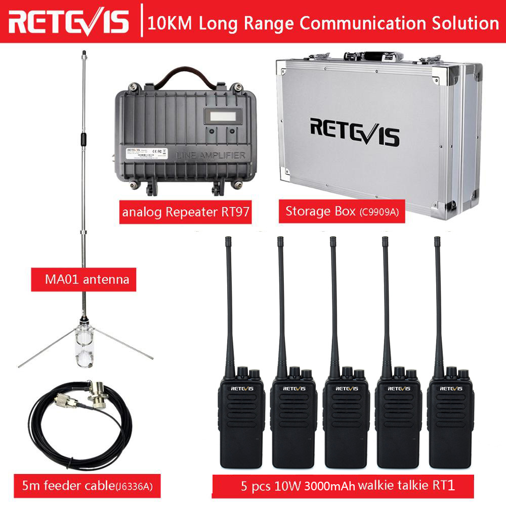Ma01-Antenna Repeater Communication-Solution Radio Retevis Rt97 Cable RT1 3000mah 10-Km