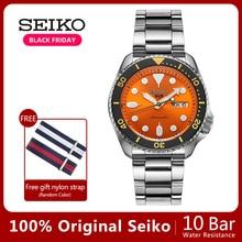 Seiko relógio mecânico automático para mergulhador, à prova dágua, luminoso, novo, 100% original, ásia