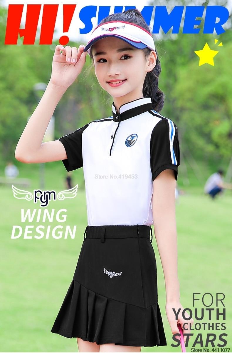 Pgm meninas respirável esportes saias de golfe
