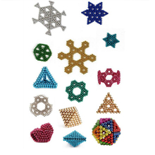 Puzzle 216 Pcs 3mm Magnetic Balls Cube Toys Office Desk Games Magnet Toys Magnetic Beads Stress Relief Toys for Adults