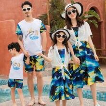Одинаковая одежда для всей семьи летние одинаковые платья мамы