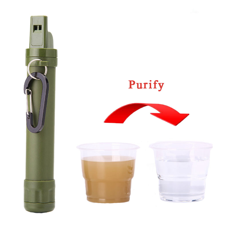 Outdoor Wild Water Purifier Emergency Water Filter Straw Water Filtration System for Traveling Backpacking Camping Equipment