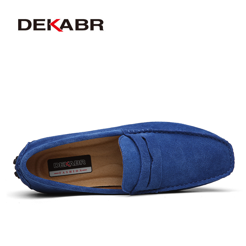 DEKABR 2020 New Arrival Men Driving Moccasins Genuine Leather Loafers Casual Fashion Wedding Men Footwear Large Size 38~50 2